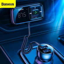 Baseus Auto Fm-zender Bluetooth 5.0 3.1A Usb Autolader Aux Handsfree Wireless Car Kit Auto Fm Radio Modulator MP3 speler