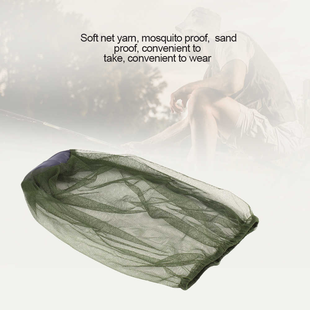 1 pièces en plein air Anti-moustique insecte chapeau plein visage protéger masque tête Net casquette pour Camping randonnée pêche insecte-preuve couverture