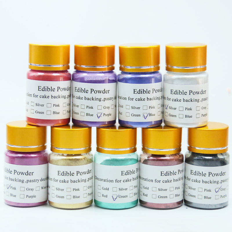 Edible Pigment Cake Fondant Baking glitter Edible Color edible dyes gold dust Macaron Cream Food Coloring Ingredients 10ML in Craft Paper from Home Garden