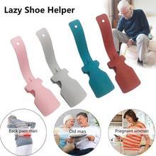 1PC leniwy pomocnik do butów Unisex obsługiwane łyżka do butów łatwe zakładanie i zdejmowanie butów podnoszenie butów podnoszenie butów tanie tanio Wieszak na buty Z tworzywa sztucznego Lazy shoe lifter