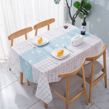 Checkered Tablecloth Generoustable Waterproof Decorative Rectangle Dining Deskkitchen