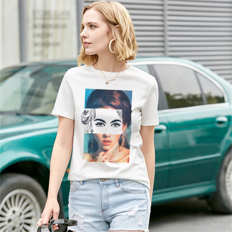 Pretty Girl <font><b>T</b></font> shirt Women Harajuku <font><b>T</b></font>-shirt Female Short Sleeve Plus Size <font><b>Sexy</b></font> Tshirt Summer Aesthetic Tumblr Modis Tops & Tees image