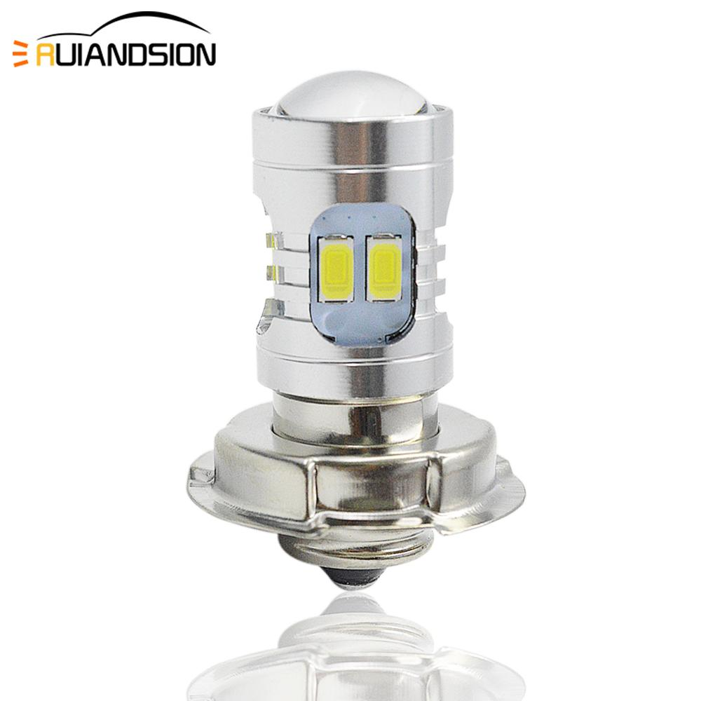 AC/DC 6-24V P26S White Light Powerful Universal Motorcycle LED Headlight Bulb Motor Scooter Motorbike 2.2W 12smd 5730 Headlamp