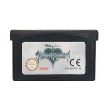 Para nintendo gba vídeo game cartucho console cartão reino corações corrente de memórias inglês língua versão da ue