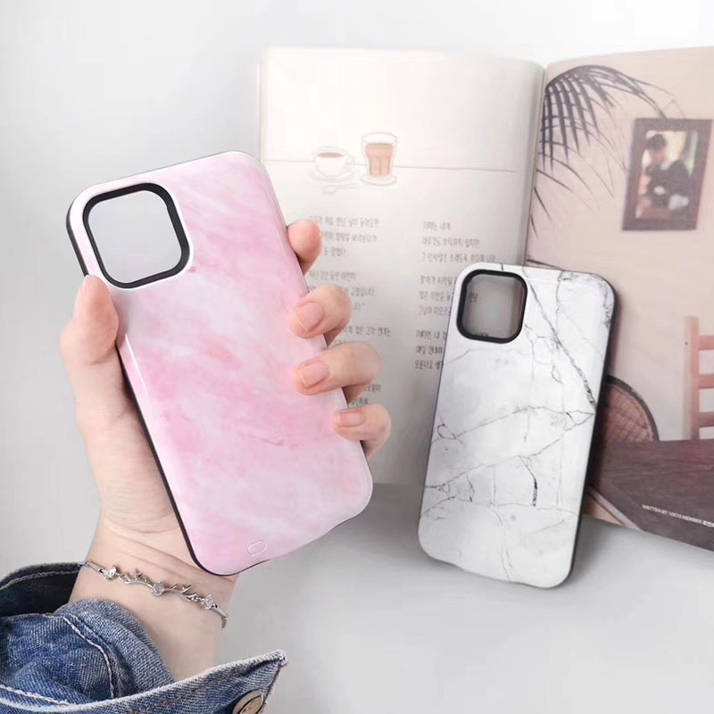 Power Case For Iphone 11pro 11 Pro Max 6000mAh Battery Charger For Iphone 11 Pro Charging White Pink Marble Pattern Case