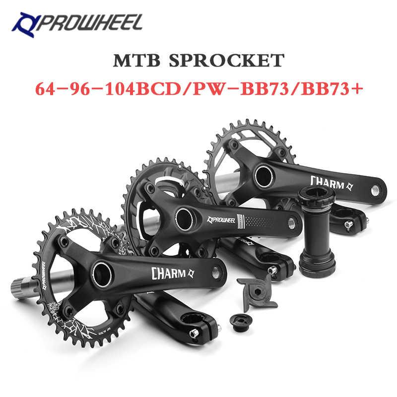 Choose Color IPOTCH Premium MTB Bike Crankset Arm 170mm BCD104mm Bottom Bracket Chainring Bolts