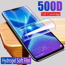 Защитная Гидрогелевая пленка для Huawei Honor 8x8 9 10 Lite 10i 20 Pro 7a 7c Pro, Защитная пленка для экрана, полное покрытие