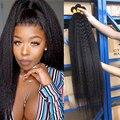 30, 32, 34, 36, 38 дюймов, курчавые прямые пучки волос yaki, прямые волосы, волнистые перуанские искусственные пучки
