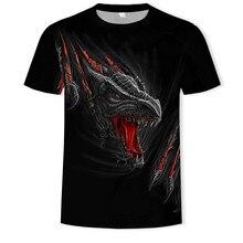 2020 camiseta masculina moda superior horror camisa 3d impresso tshirts com padrão dragão chama verão manga curta para streetwearmale