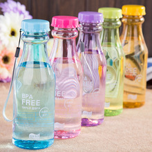 550ML Soda bottle creative cute plastic cup transparent with cover student portable Environmentally friendly material