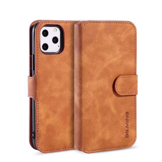 Premium Leather Flip Wallet Case for iPhone 11/11 Pro/11 Pro Max