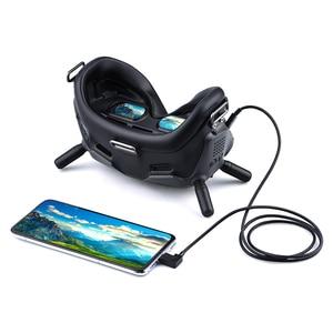 Image 2 - 1m cabo de dados para dji fpv óculos de proteção v2 telefone tablet micro usb tipo c ios conector linha de transmissão fpv combinação vôo óculos fio