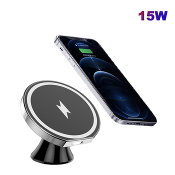 15W Fast Charging Magnetic Wireless Car Charger Mount For IPhone 12 Pro Max Fast Charging Wireless Charger Car Phone Holder image