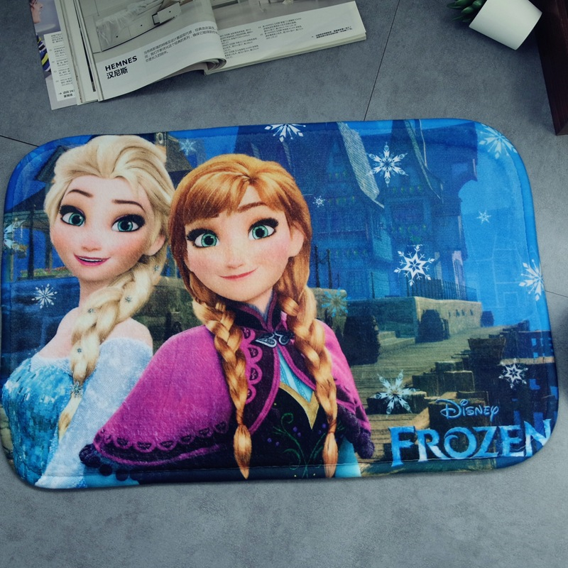Frozen Mat Anna Elsa Carpet Door Mat 38x58cm  Bathroom  Kitchen Kids Boys Girls Crawling Game Mat Bedroom Carpet