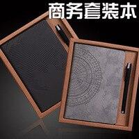 XGZ A5 блокнот Сгущает канцелярские принадлежности портативный Рабочий Блокнот бизнес-блокнот изысканный набор коробок