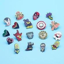 Funny Animate Movies Lapel Enamel Pins Shield Metal Cartoon Brooch Backpack Hat Bag Collar Badge Men Women Fashion Jewelry Gifts