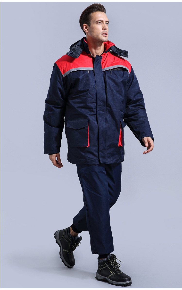 Winter Working Clothing Men Cold Storage Overalls Thick Warm Clothing Bib Cotton Suit Set Split Protective Safety Clothing (6)