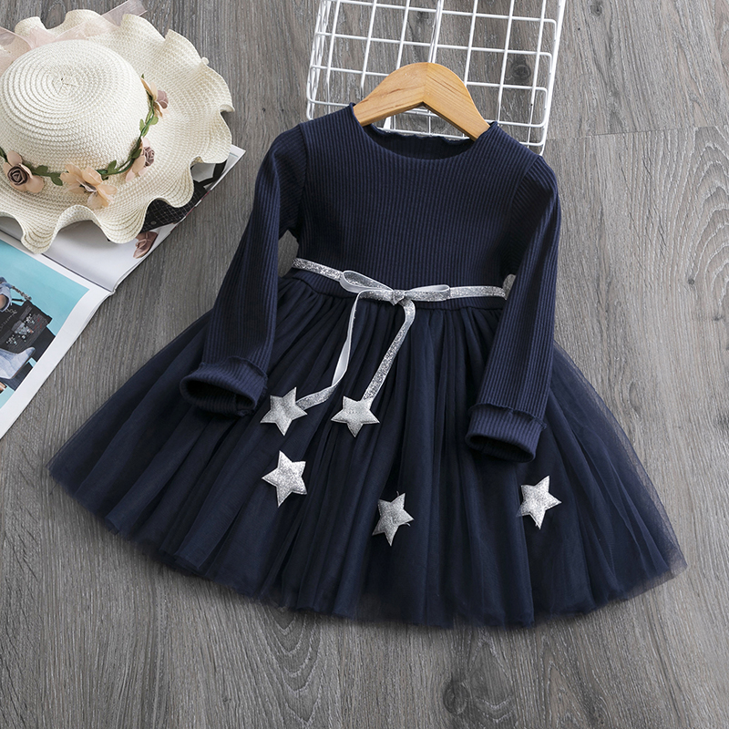 New Arrival Petal Sleeve Girls Spring Summer Dress Flower Wedding Dresses Solid Children Party Costumes Kids Baby Clothing 3 7Y 4
