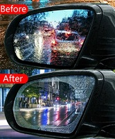 waterproof rain 2 Pcs/Set Car Mirror Window HD Clear Film Anti Fog Car Rearview Mirror Protective Film Waterproof Rain Car Sticker (4)