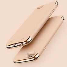 3500mAh/4000mAh ince Ultra ince telefon pil kutusu iPhone 6 6s 7 8 güç bankası yedekleme şarj çantası iPhone 6 6s 7 8 artı