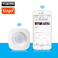 WIFI Wireless PIR Motion Sensor Detector Tuya Smart Life ควบคุมที่ถูกต้อง ALARM Security เข้ากันได้กับ Alexa Google Home Assistant