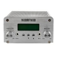 NIORFNIO 1W/6W PLL FM Transmitter Radio Bluetooth Wireless Broadcast with Antenna Car Theater Campus Broadcast US Plug
