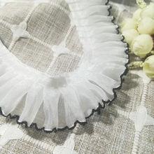 1 ярд Новая высококачественная плиссированная кружевная ткань
