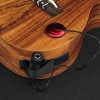 Professionelle Piezo Kontakt Mikrofon Pickup mit Clamp Für Akustische Saiten Instrument Gitarre Violine Banjo