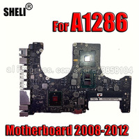 System board A1286 Motherboard for MacBook Pro 15\