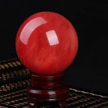 Красный плавильный хрустальный шар драгоценные камни и минералы
