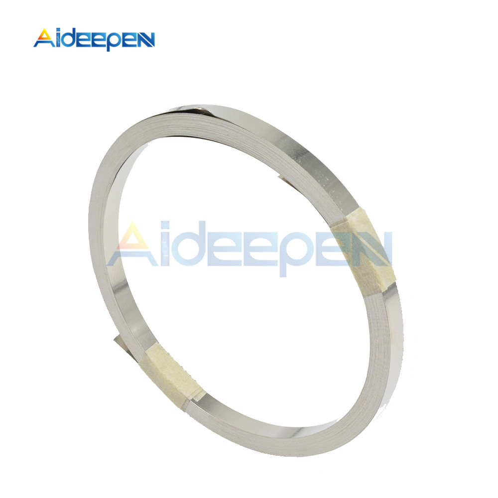 10M 3mm 4mm 5mm 7mm 8mm 10mm X 0.1 Pure Nickel Strip Tape For Li 18650 Battery Spot Welding Compatible For Spot Welder Machine