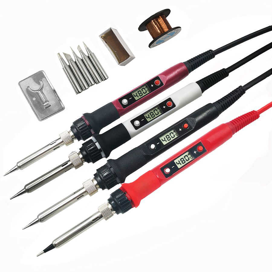 60W/80W Electric soldering iron temperature adjustable 220V 110V  Welding Solder iron rework station soldering iron accessories