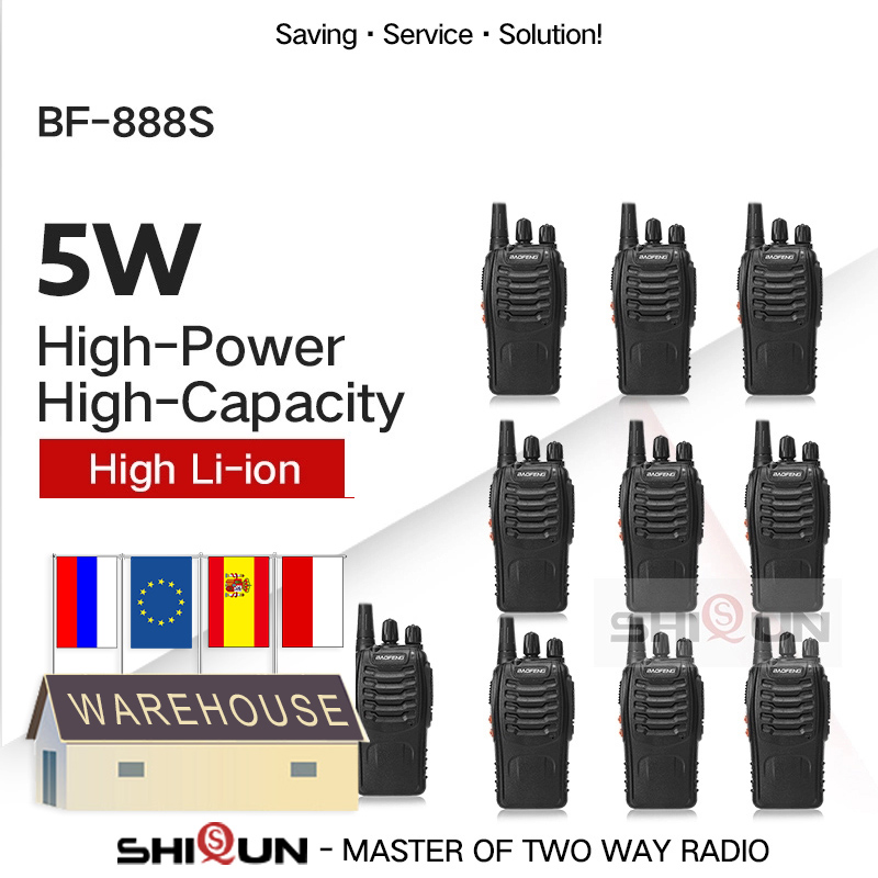 Baofeng Usb-Charger Walkie-Talkie UHF Two-Way-Radio Bf 888s 5W H777 Cheap 2PCS 10PCS