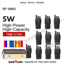 2 pces 4 pces 10 baofeng BF-888S walkie talkie 888s 5w 400-470mhz uhf bf888s bf 888s h777 barato rádio em dois sentidos carregador usb