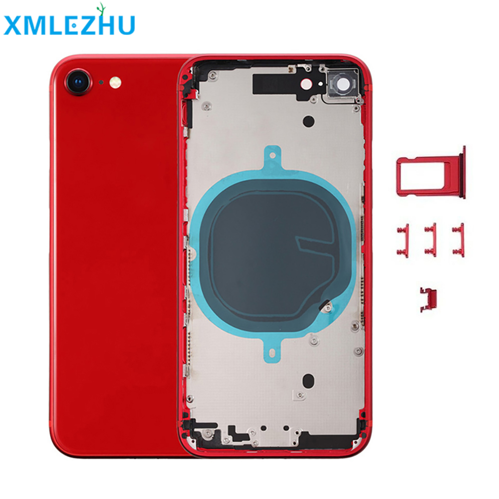 For iphone 8 8 Plus X XR Back Middle Frame Chassis Full Housing Assembly Battery Cover Body CE LOGO with ce logo title=
