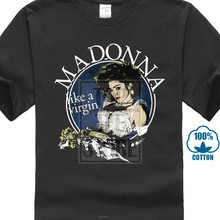 Madonna Live Virgin Tour 1985 สีดำ T (China)