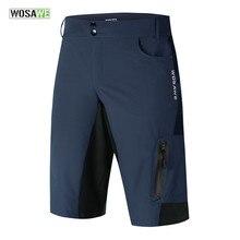 WOSAWE – short de cyclisme pour hommes, résistant à l'eau, coupe ample, séchage rapide, pour vélo, vtt, S-2XL