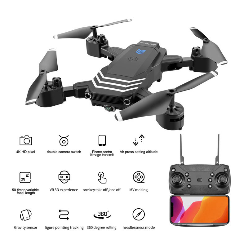 LS11 RC Drone 4K With Camera HD 1080P Mini Foldable Dron FPV Wifi Drones Professional Quadcopter Hold Mode Dual Cameras Boy Toys 4