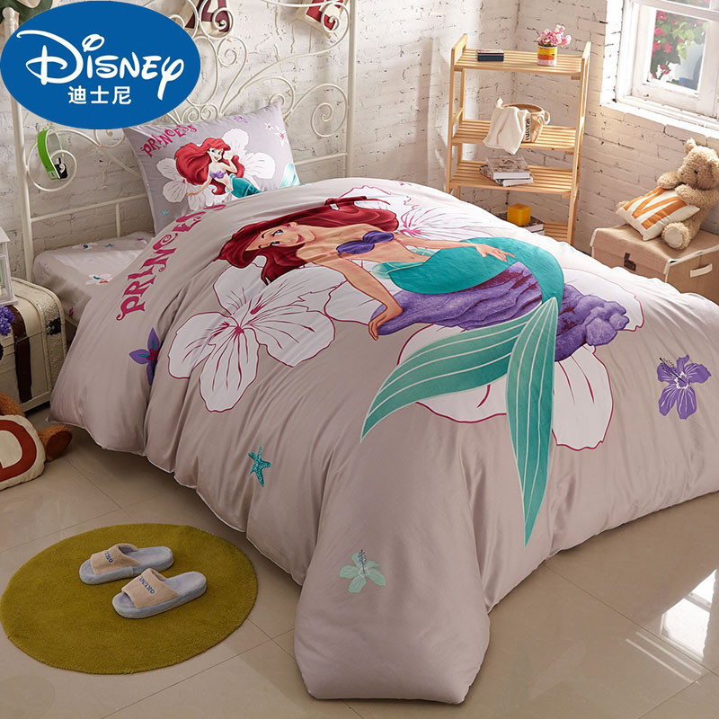 parure de lit princesse disney ariel decor pour chambre d enfant de filles parure de lit 100 coton housse de couette taies d oreillers