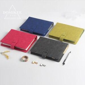 Image 2 - 2017 neue klassische büro schule 6 löcher spirale notebook schreibwaren, feine leder bindemittel persönliche agenda planer organizer A5 A6