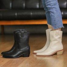 Женские ботильоны в европейском стиле на высоком каблуке модные