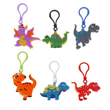 6pcs New Dinosaur Party Dinosaur Keychain Birthday Party Decorations Kids Gifts Baby Shower Decorations Jungle Party Decoration(China)
