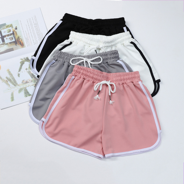 Fashion Summer Casual Shorts Woman Stretch Elastic Waist Booty Shorts Female Black White Loose Beach Sexy Shorts S-XXL 1