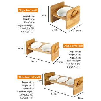 1/2/3 Ceramic Dish Bowl Wooden Table  5