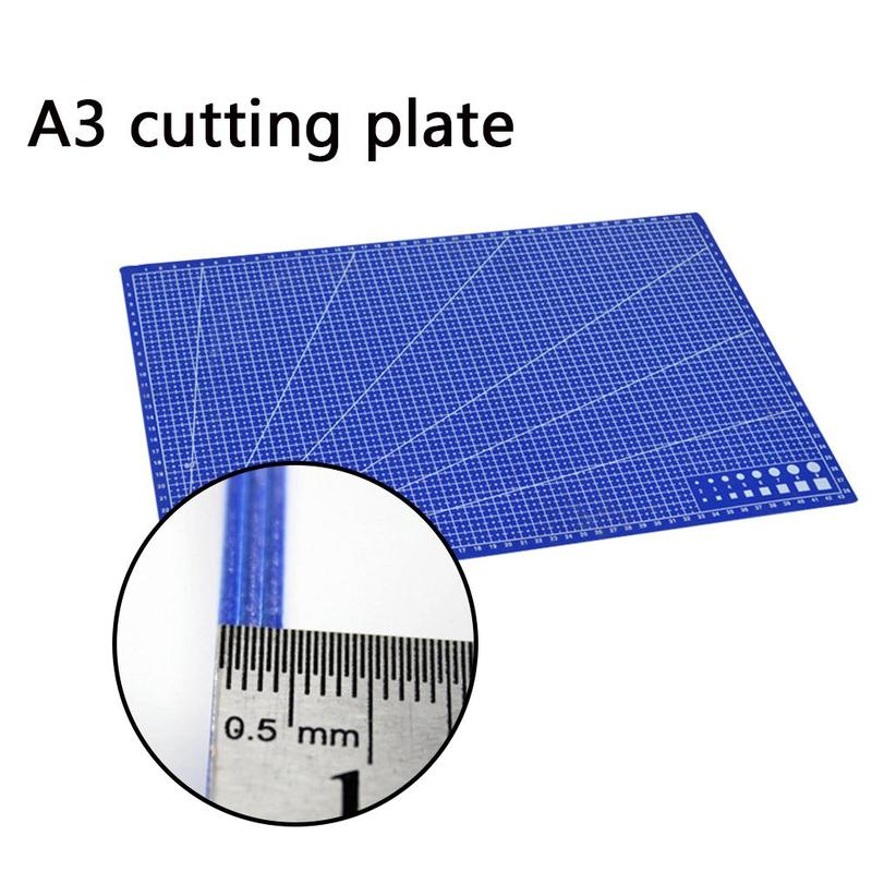 New 1Pc A3 Cutting Plate Pvc Rectangle Grid Lines Cutting Mat Plastic Diy Tools 45cm * 30cm School Office Supplies For Kids Gift 1