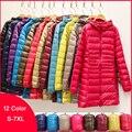 Woman Duck Down Jackets Winter Plus Size Ultralight Hooded Women Down Coat Portable Long Parkas Padded Puffer Overcoat 6XL 7XL