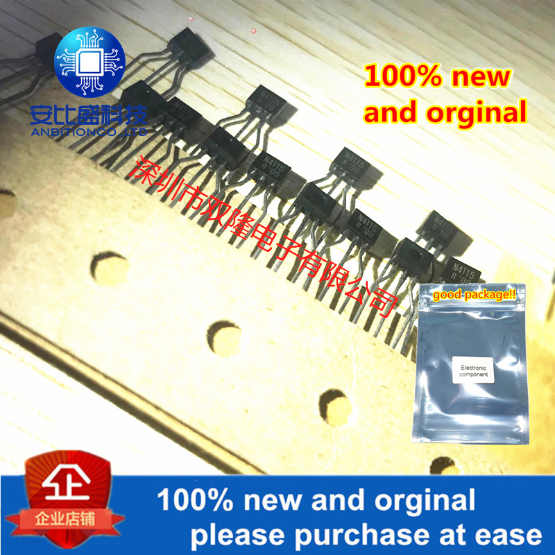 10pcs 100% New And Orginal UN4115 N4115 TO-92S  In Stock