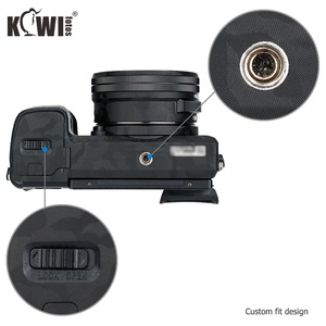 Image 3 - Kiwifotos Anti Scratch Camera Body Skin Cover Protector Film for Sony Alpha A6100 A6300 A6400 + SELP1650 16 50mm Lens 3M Sticker