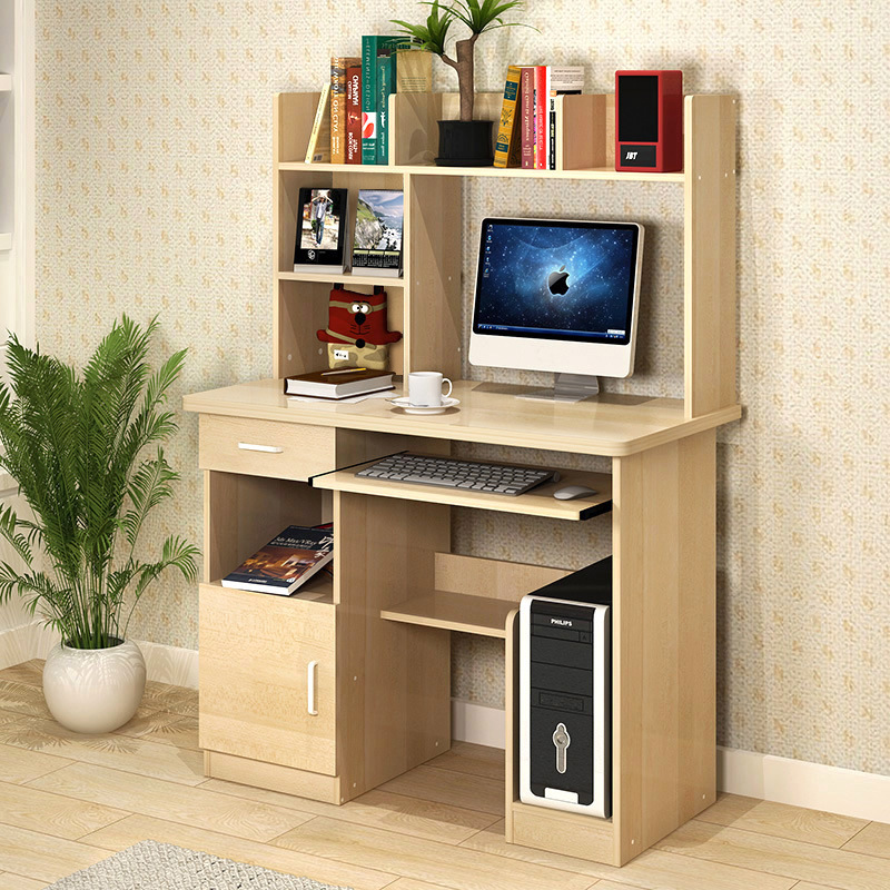 Man Patriarch Computer Table Simple Desktop Table Household With A Bookcase Office Desk Bookshelf Combination Writing Desk