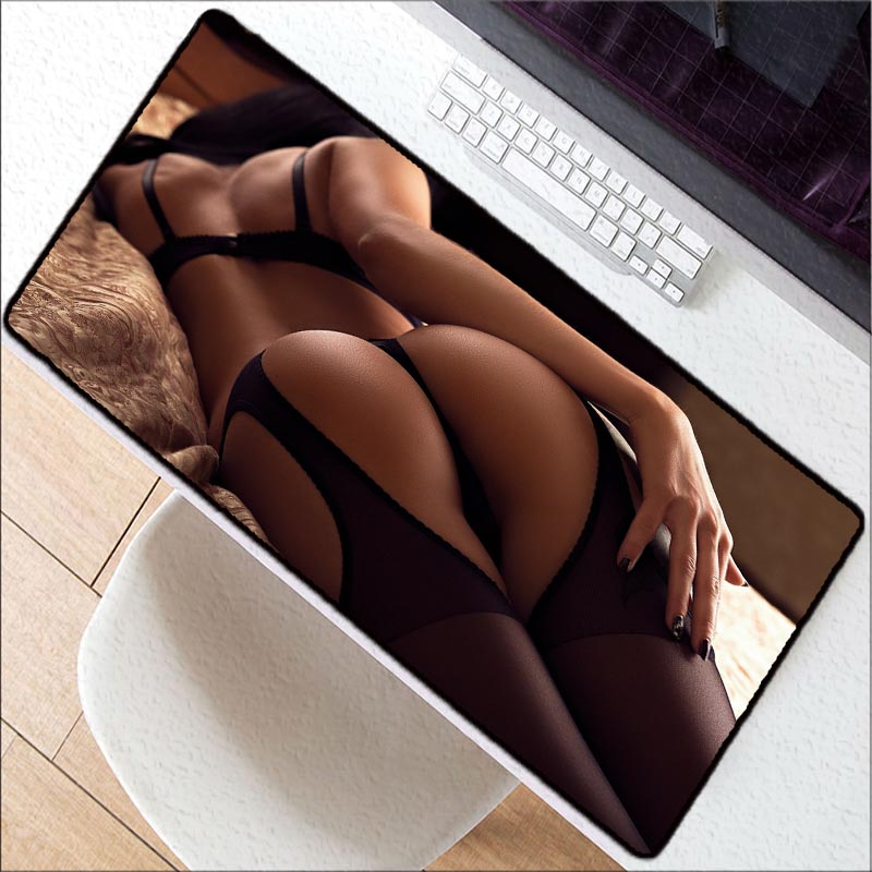 Mairuige Sexy Girl Ass Extra Large Mouse Pad Gaming Mousepad Anti-slip Natural Rubber Gaming Mouse Mat With Lock Edge For CSGO